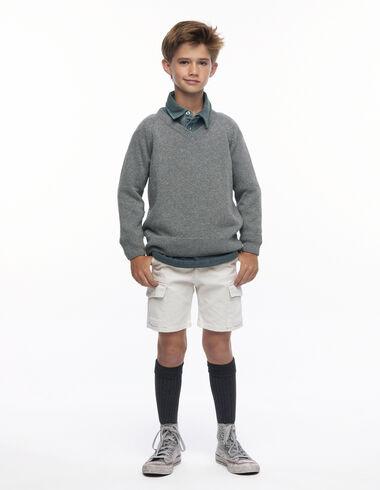 Chino corto bolsillos crudo - Pantalones cortos - Nícoli