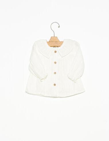 Camisa cuello volante botones cruda - Ver todo > - Nícoli