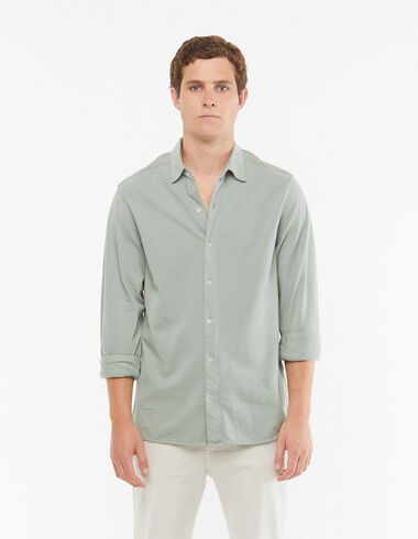 Light green short sleeved polo shirt - View all > - Nícoli