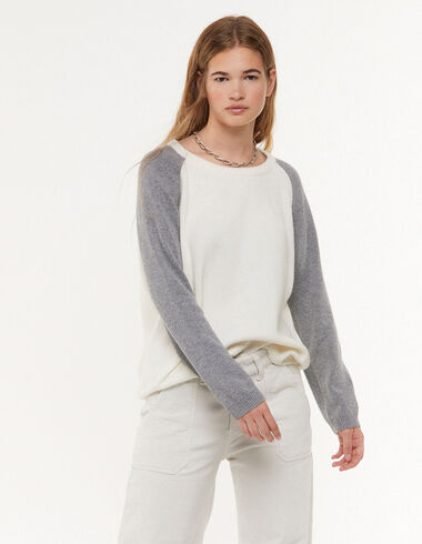 Pink two-tone jumper - Jumpers & Sweatshirts - Nícoli
