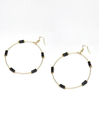Black Circle earrings - View all > - Nícoli