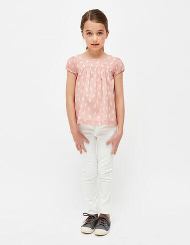 Jean blanc slim fille - Denim - Nícoli