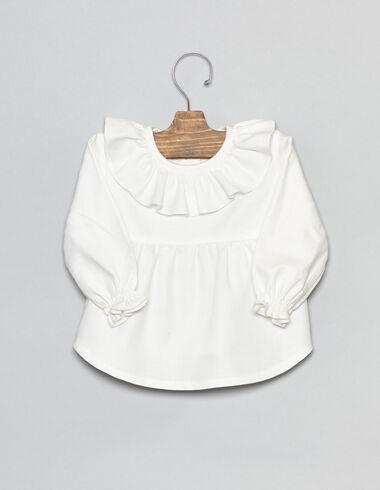 Camisa bebé corte volante blanco - Camisas - Nícoli