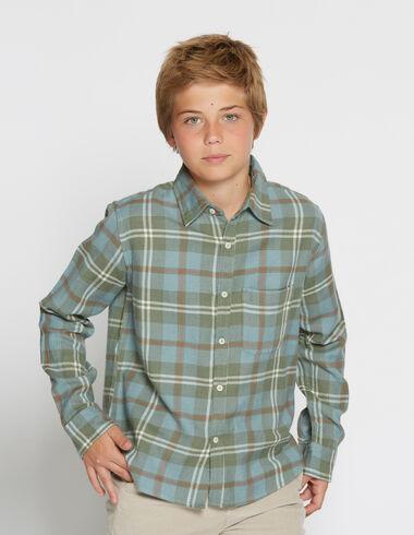 Girl's green check blouse - Shirts - Nícoli