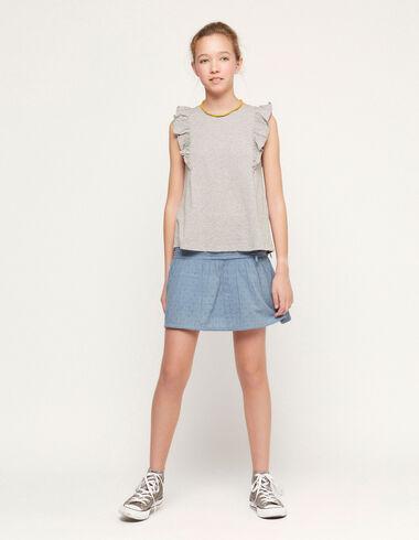 Blue plumeti skirt - View all > - Nícoli
