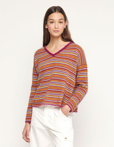 Multicolour striped jumper - Special prices - Nícoli