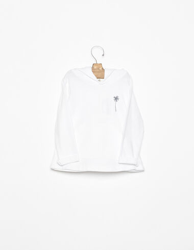 White sweatshirt with anthracite palm tree - View all > - Nícoli