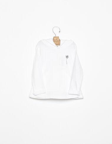 Sweat-shirt blanc palmier anthracite - Voir tout > - Nícoli