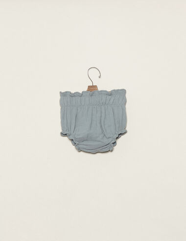 Blue cotton bloomers - Bloomers - Nícoli