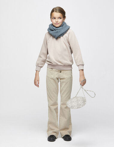 Beige corduroy flared trousers - Clothing - Nícoli