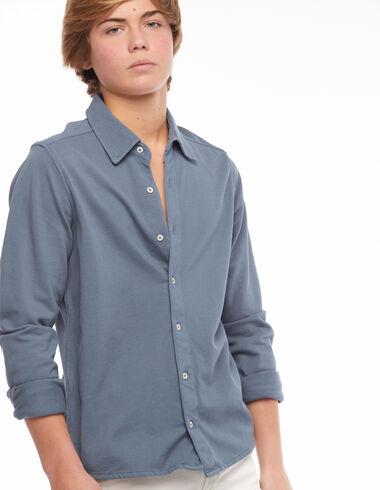 Blue polo shirt dress - View all > - Nícoli