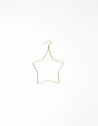 Large gold star earrings - View all > - Nícoli