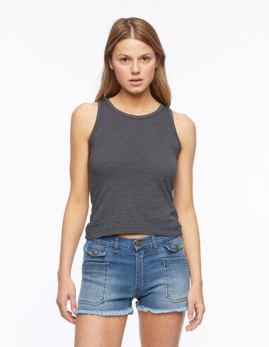 Anthracite tank top - T-shirts - Nícoli
