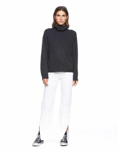 Pantalon wide leg blanc - Denim - Nícoli