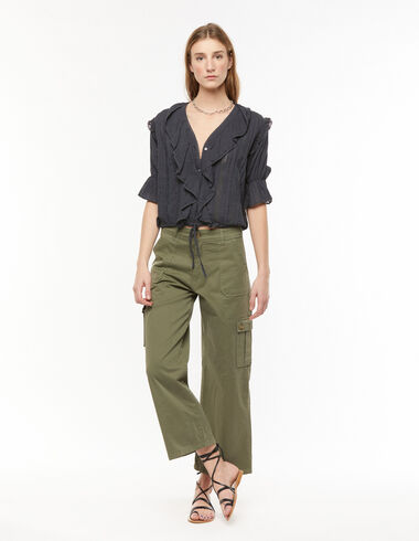 Khaki green cargo pants - Denim - Nícoli