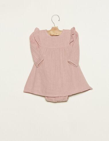 Pink shoulder ruffle dress - Dresses - Nícoli