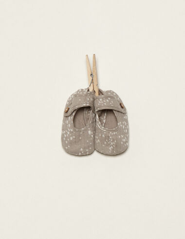 Chaussures taupe coeurs  - Chaussures - Nícoli