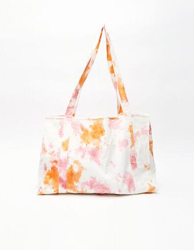 Bolso grande tie dye naranja y fresa - All About Colours - Nícoli