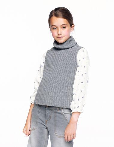Grey ribbed vest - View all > - Nícoli