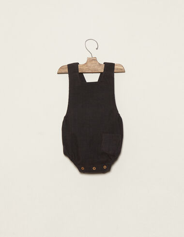 Anthracite romper with pocket - View all > - Nícoli