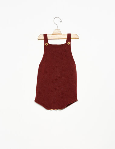 Terracotta knitted playsuit - View all > - Nícoli