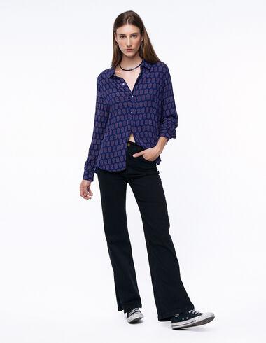 Total black wide leg trousers - Denim - Nícoli