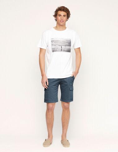 Blue chino shorts with pockets - Traspasos (se oculta) - Nícoli