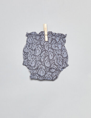 Bloomer paisley bleu premier âge - Bloomers - Nícoli