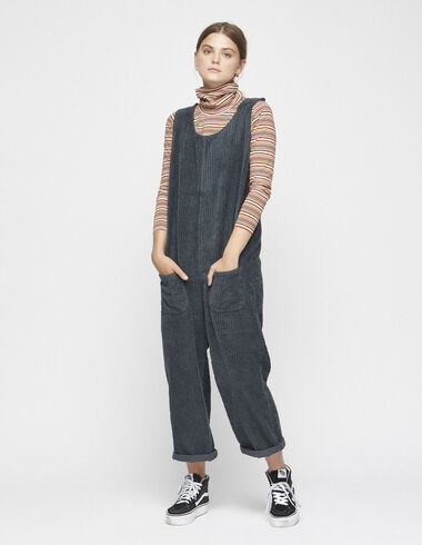 Anthracite corduroy jumpsuit - View all > - Nícoli