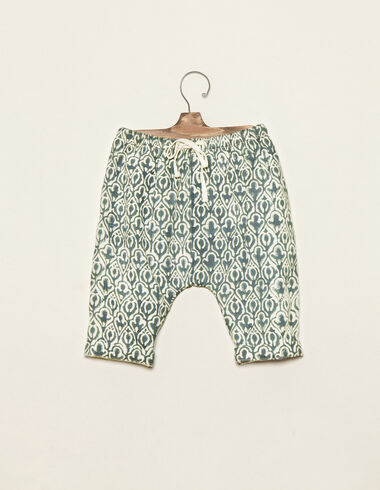Green Indian print long bloomers - View all > - Nícoli