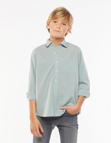 Light green V-neck shirt - View all > - Nícoli