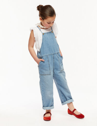 Blue dungarees with pocket and straps  - View all > - Nícoli