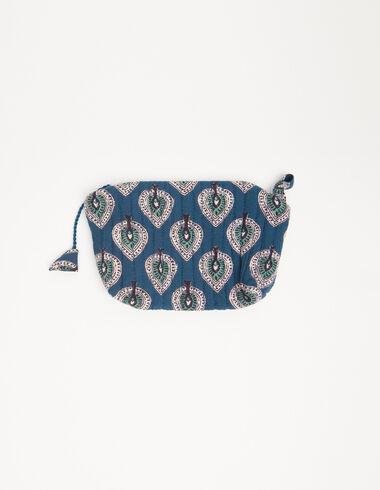 Blue leaves coin purse - Coin purses - Nícoli