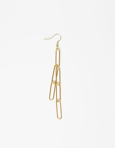 Chains drop earring in gold tone - View all > - Nícoli