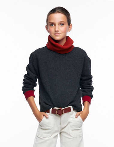 Orange and maroon turtleneck jumper - View all > - Nícoli