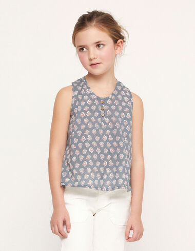 Blue buti shirt with buttons - View all > - Nícoli