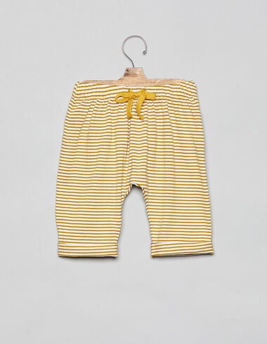 Mustard striped long baby bloomers - Bloomers - Nícoli