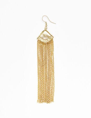 Women's  gold fringe earrings - View all > - Nícoli