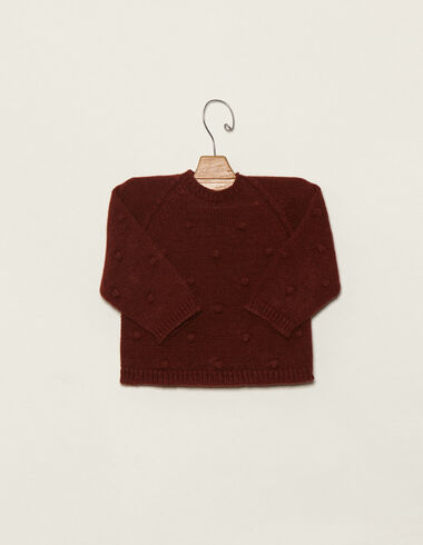 Baby´s terracotta jumper with bobble - View all > - Nícoli