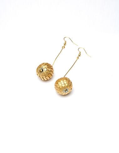 """""""Disco Ball"""" gold earrings - Golden Collection - Nícoli"""
