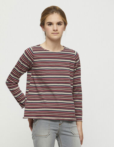 Dark striped top - T-shirts - Nícoli