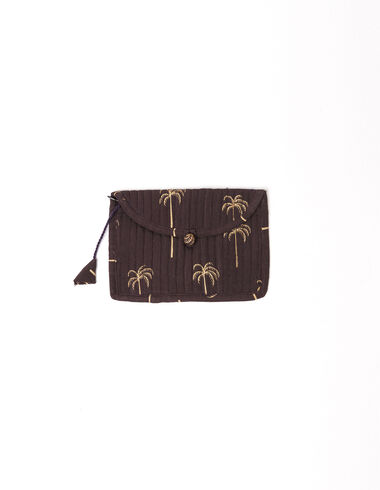 Anthracite palm trees coin purse - Basics to put your life in order - Nícoli