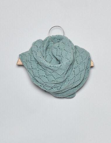 Echarpe vert clair point tricot ajouré pour bébés - Voir tout > - Nícoli