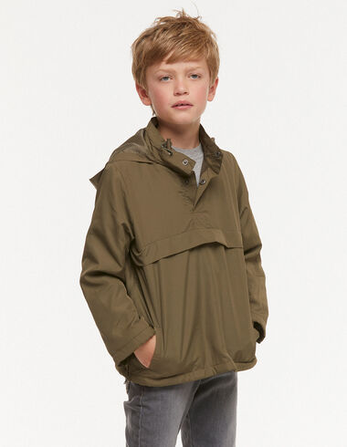 Short green hooded coat - Outerwear - Nícoli