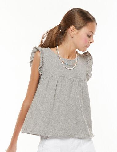 Camiseta hombro volante gris - Ver todo > - Nícoli