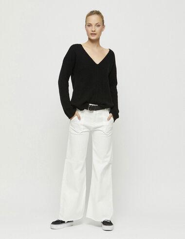 Pantalón ancho bolsillos blanco - Pantalones largos - Nícoli
