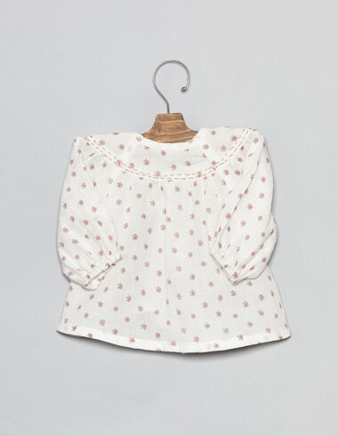 Pink flower baby blouse - Shirts - Nícoli