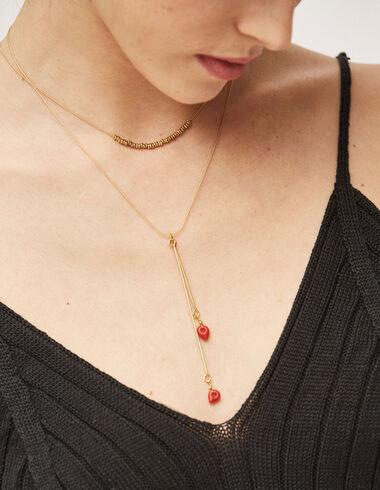 Collar palitos rojos - Complementos - Nícoli