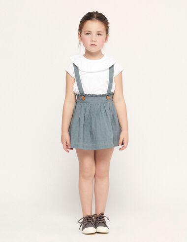 Dark green plumeti skirt with straps - Special prices - Nícoli