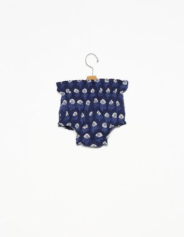 Bloomer à fronces en boutis bleu - Voir tout > - Nícoli